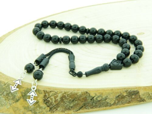 Cukur dull Onyx gemstone 33 beads Islamic Prayer Beads Misbaha Tesbih 123018