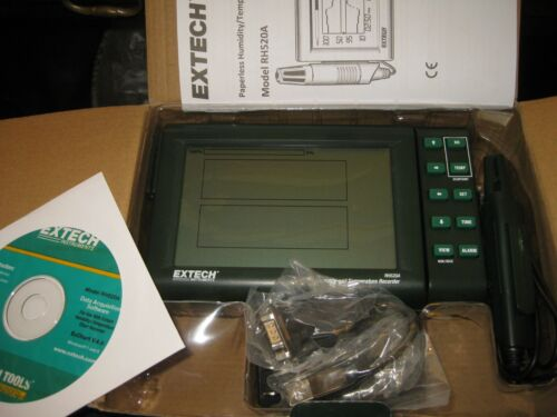 Genuine Extech® RH520A Humidity & Temperature Chart Recorder RS-232 inter.