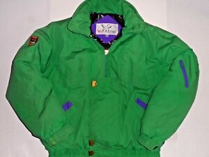 Triple Fat Goose Down Puffer Jacket Vintage Coat Bomber Men's Size L Free Ship!!