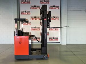 2013 TOYOTA 6FBRE16 36440 1.6 TON 1600 KG CAPACITY REACH TRUCK FORKLIFT Coopers Plains Brisbane South West Preview