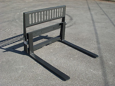 Bobcat Skid Steer Attachment - Used 42 4000 Pound Pallet Forks - Ship For 149
