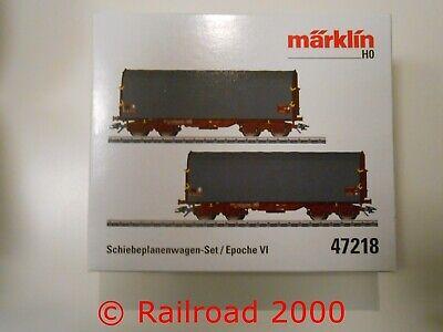 Märklin 47218 Schiebeplanenwagen-Set Neuware