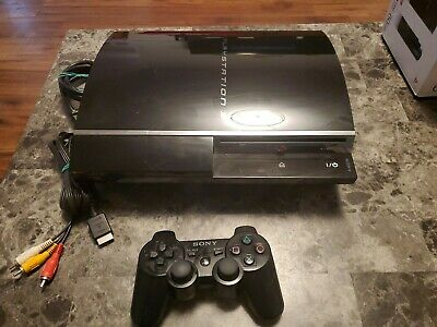 Sony PlayStation 3 Launch Edition 60GB Piano Black Console (CECH-A01)