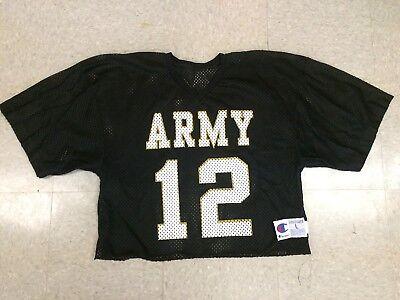 Vintage Army Black Knights  12 Football Jersey Champion Brand   Size Men Large L