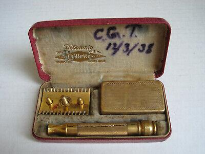 Vintage Gillette DEBUTANTE Safety Razor w/ Case