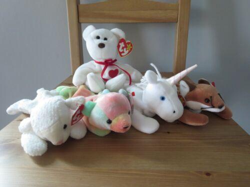 Ty Beanie Babies Batch of 5 Cute animals (lot 11),  Mint w/ Tag