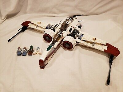 LEGO Star Wars ARC-170 Starfighter (8088) Minifigures No Manuals