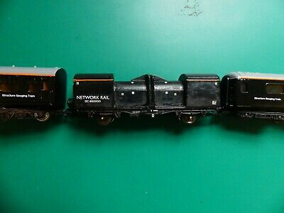 Network Rail Structure Gauging Optical Car and Coaches, OO Gauge Custom built