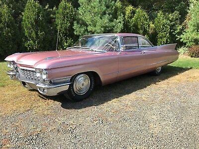 1960 Cadillac 62 Coupe  1960 Cadillac 2 Door Coupe  Big Fin  Persian Sand All Original