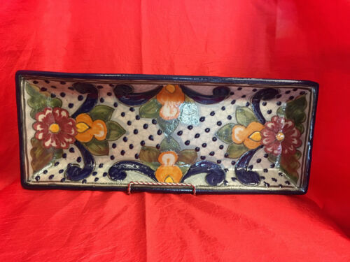 Signed Talavera Tray