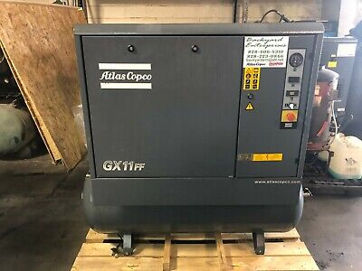 15 Hp Atlas Copco Gx11ff Air Compressor And Dryer