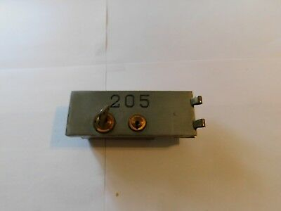 "SAFE DEPOSIT BOX DOOR LOCK! SAFETY BANK VINTAGE ONE KEY. - 5 1/4"" X 2""  - #205"