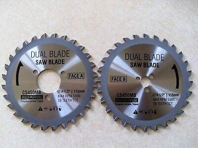 Dual Saw Blade (DualSaw Everyday CS450 Multi Purpose Carbide Replacement Blade Set Dual)