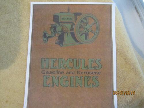 Hercules 1 1/2-12HP Gas Engine Color Information Catalog