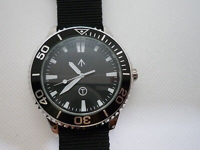 Time Arrow Watch Co. Submariner, military, Miyota movement, white hands