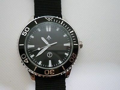 Time Arrow Watch Co. Submariner, military, Miyota movement, white hand