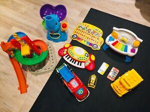 Huge Toy Bundle for Kids - Trucks, Tracks, Phones!