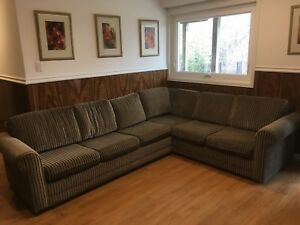 Fabric sectional sofa couch with sofa bed
