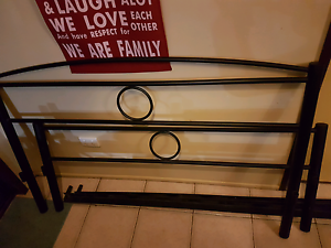 Queen size iron bed and night stands Capalaba Brisbane South East Preview