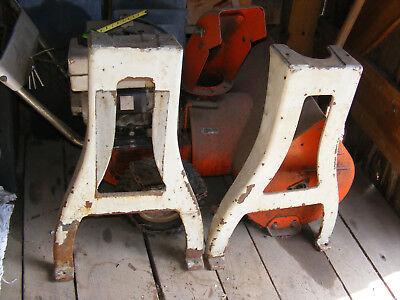 Logan Flat Belt Lathe Cast Iron Leg Set La-320-1 Vintage Industrial Machine Legs