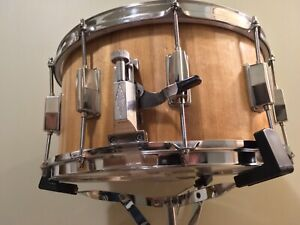 """Solid yellow birch 7 1/4"""" x 14"""" snare drum"""