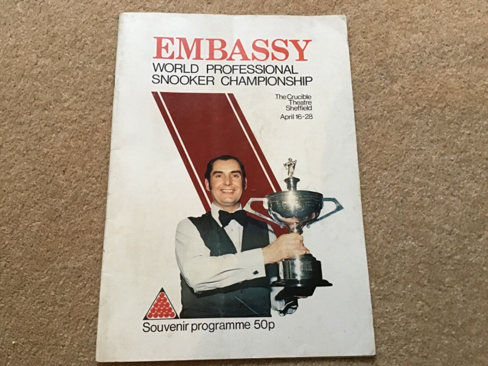 1979 World Snooker Championship Programme VERY RARE + centre page not filled in