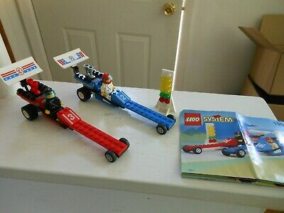 LEGO SYSTEM #1992 DRAGSTERS Complete With Minifigures MANUAL