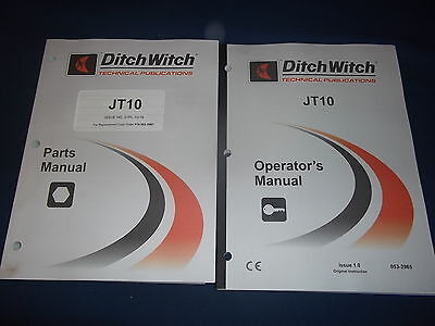 Ditch Witch Jt10 Directional Drill Parts Operation Maintenance Manual Book