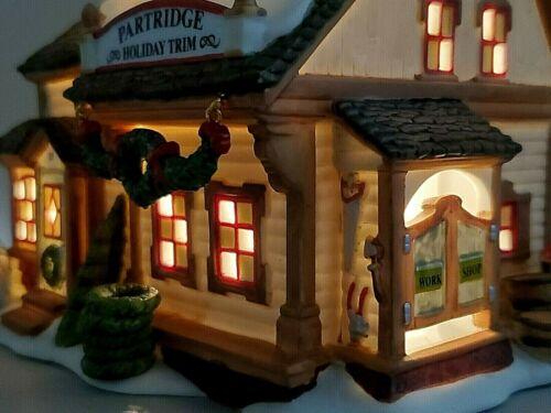 Dept 56 New England Village Partridge Wreath Shop #4016903 New Limited Edition💖