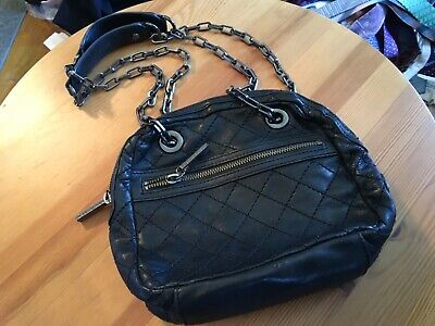 Tory Burch handbag crossbody black quilted. Used