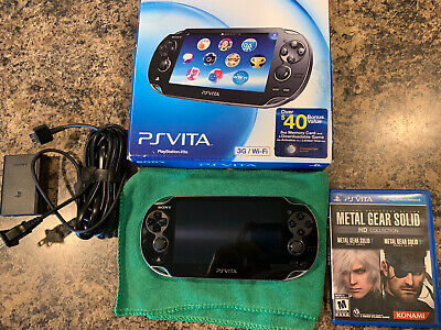 Sony PS Vita PCH-1101 3G WIFI w/ 8GB Memory Card,  Charging Cable, Metal Gear