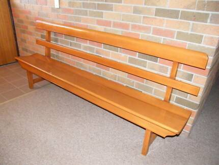 Church Pews...sturdy but light in weight to use with dining table