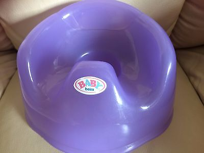 """Baby born dolls potty,plastic lilac approx size 7"""" x 7,5"""" H. approx 4.5"""""""
