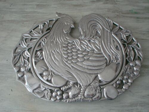 LENOX Williamburg Aluminum Rooster Expandable Hot Plate Very Good Condition