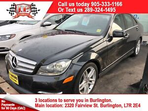 2013 Mercedes Benz C-Class 300, Leather, Sunroof, AWD, 40, 000km