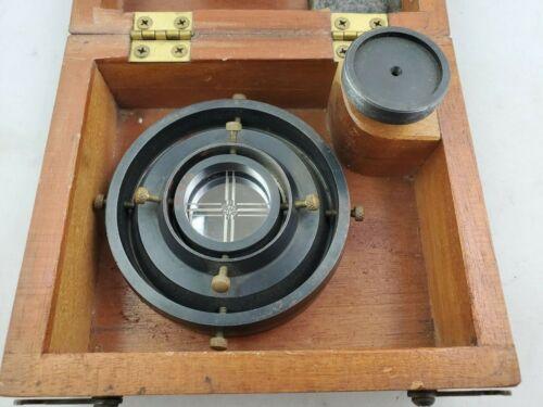 Rare Vintage Brunson 284 Spindle Mirror Magnetic Target in Case