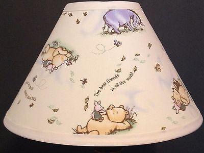 Classic Winnie the Pooh Best Friends Fabric Nursery Lamp Shade