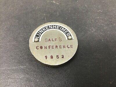 Lunkenheimer Oiler Sales Conference 1952 Souvenir Token Paperweight Rare