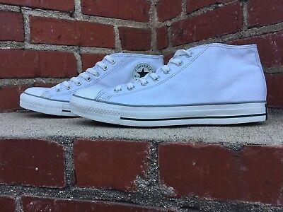 Converse CTAS Clean Mid Top White Sneaker Style 131221F Men Size 10 Women 12