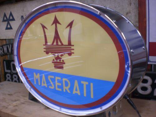 Maserati,merak,ghibli,GT,illuminated,mancave,lightup sign,garage,workshop,old,7