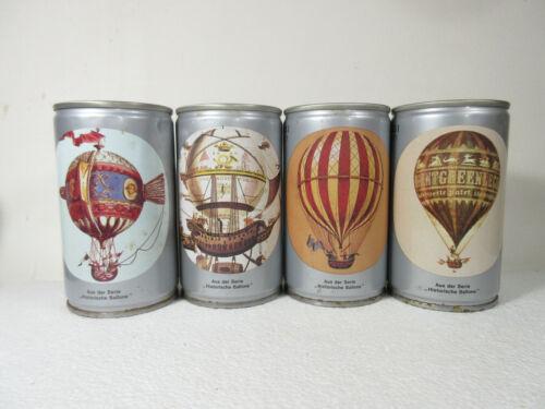 4 Different Becker BALLOON cans, Becker, Germany