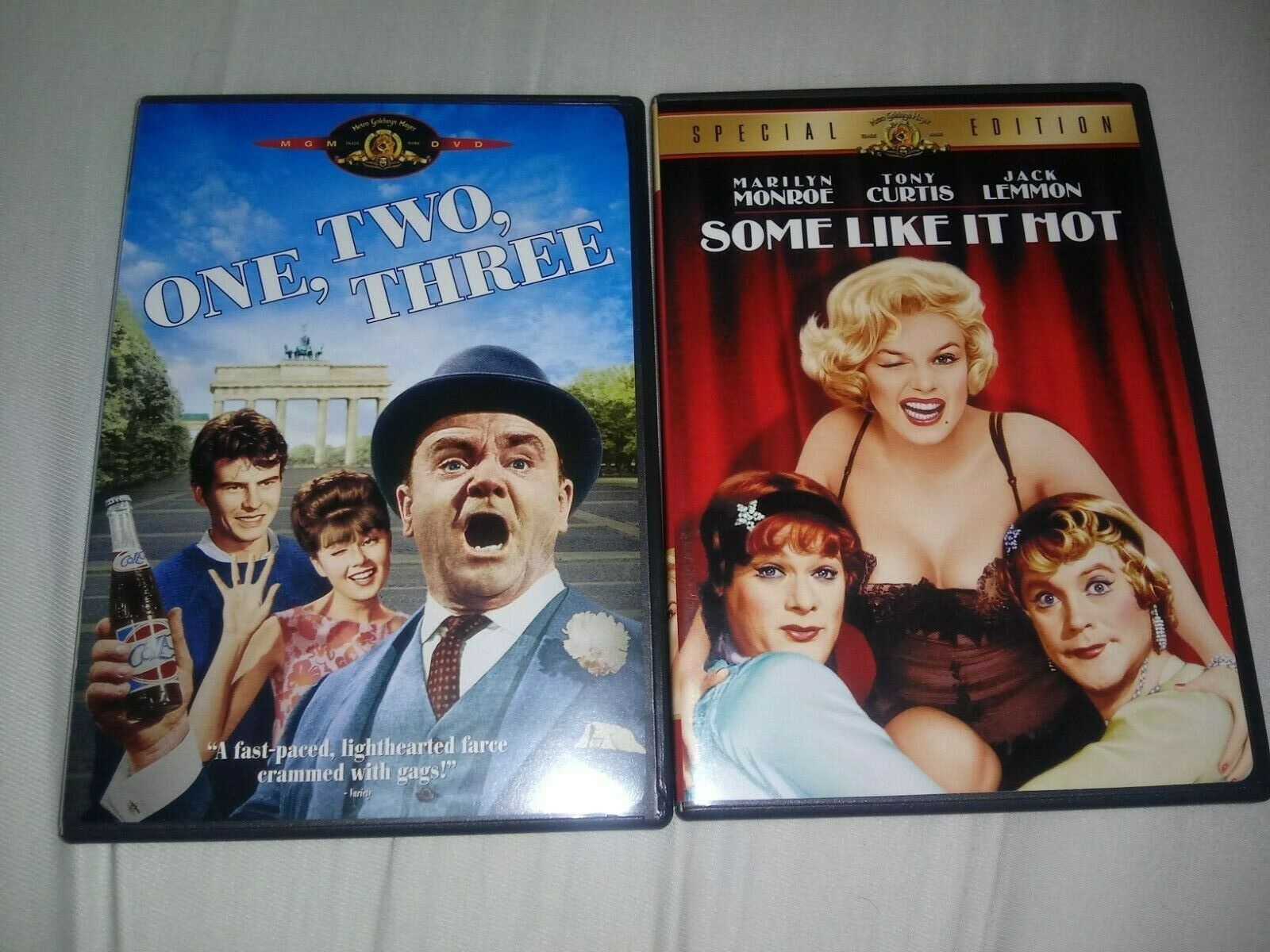 One, Two, Three Some Like It Hot DVD James Cagney Marilyn Monroe Billy Wilder - $16.99