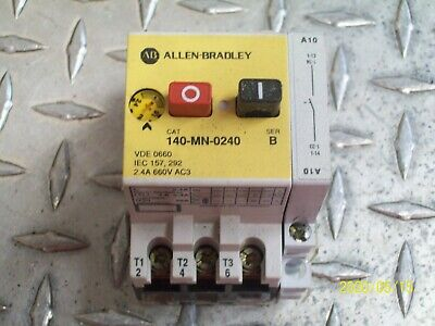 Allen Bradley 140-MN-0240 Manual Starter 1.6 to 2.4 Amp W/ 140-A10 FREE SHIPPING