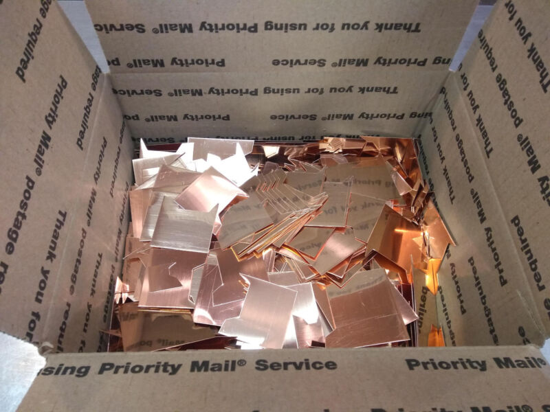 """99.9 Copper 40lbs -- FREE SHIPPING USA -- Most pieces are 2.5"""" or smaller"""
