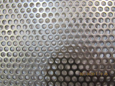 18 Holes--20 Gauge 304 Stainless Steel Perforated Sheet ---10 X 12