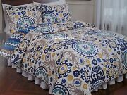 Queen Quilt Set Yellow