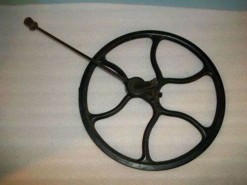 Antique Singer Treadle Sewing Machine Cast Iron FlyWheel with metal pitman arm