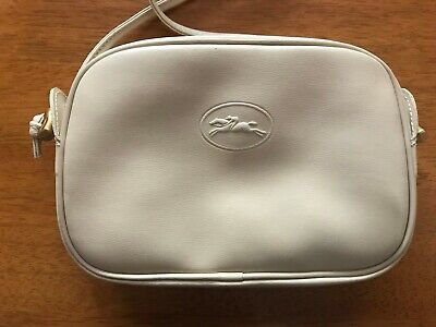 Longchamp Vintage Beige Crossbody Purse (Made in France)