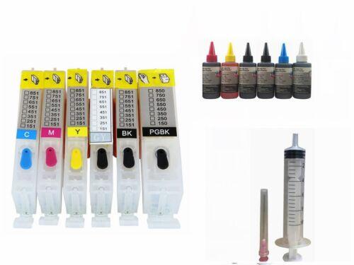 6 Empty Refillable kit  Ink Cartridge for Canon PGI-270XL CLI-271XL PIXMA MG7720