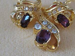 Lovely AMETHYST pendant and earrings. Never worn. Unwanted gift. Raymond Terrace Port Stephens Area Preview